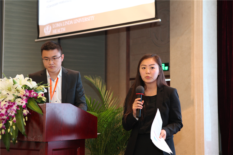 Kelly Chung presents to the leadership course that Loma linda Univesity Health held in Hangzhou, China.