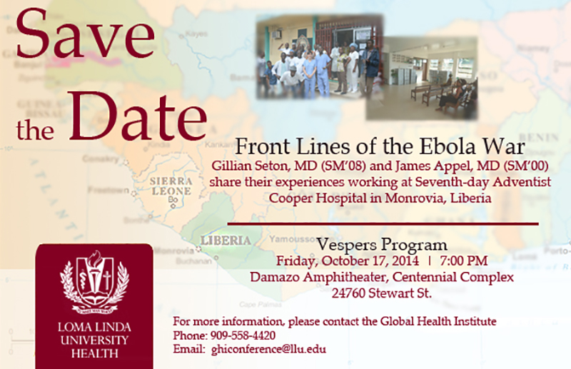 Front Lines of the Ebola War Flyer