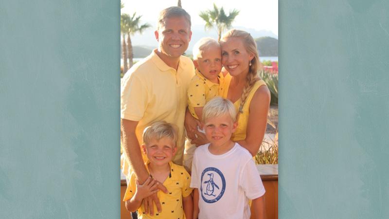 Ryan Hayton with his family