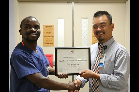 LLUH nursing staff mentors one of Malawi's first Intensive Care Unit nurses